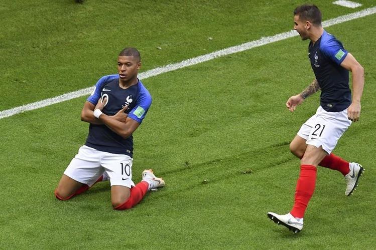 Kylian Mbappé fue la figura de Francia, en el triunfo contra Argentina. (Foto Prensa Libre: AFP)