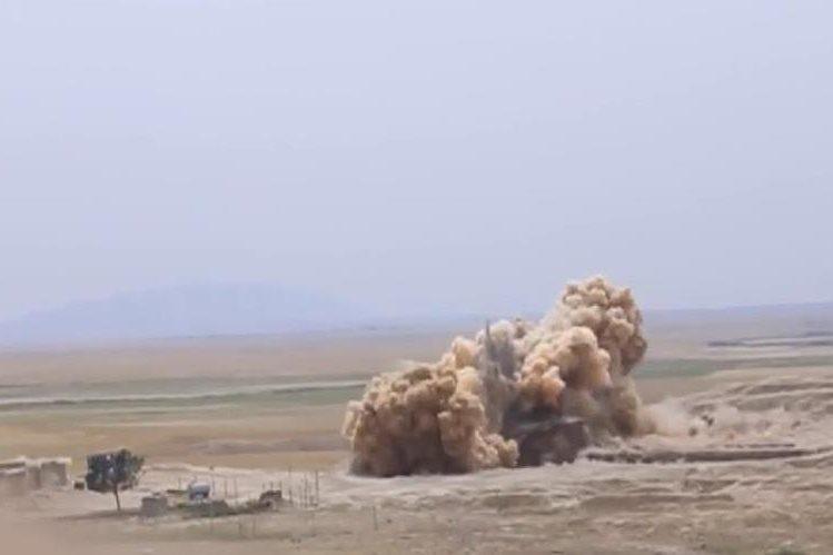 Imagen de video muestra la explosión y destrucción.