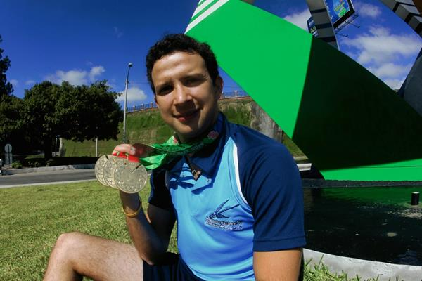 Kevin Cordón se colgó tres medallas de oro en los pasados Juegos Centroamericanos y del Caribe, Veracruz 2014. (Foto Prensa Libre: Óscar Felipe).