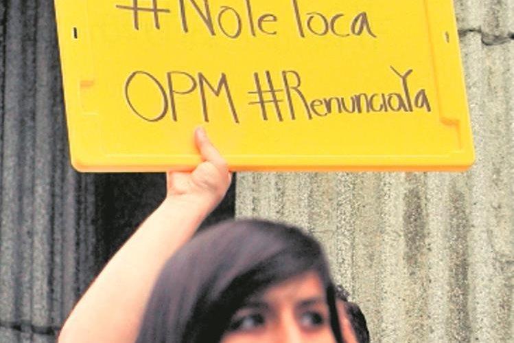 El clamor de las manifestaciones en los últimos días. (Foto Prensa Libre: Hemeroteca PL)