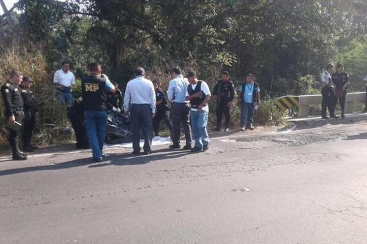 El cadáver del alcalde de Samayac, Suchitepéquez, Valeriano Rodríguez, fue localizado en un camino de Mazatengango. (Foto Prensa Libre: Hemeroteca)