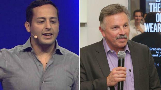 Eduardo Vivas (izda) es jefe de producto de LinkedIn y Jerry Bautista (dcha) es vicepresidente de la división de nuevos dispositivos de Intel.