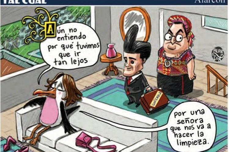 Caricatura del medio Heraldo considerada como un mensaje discriminatorio por Relaciones Exteriores. (Foto Prensa Libre: Cancillería)