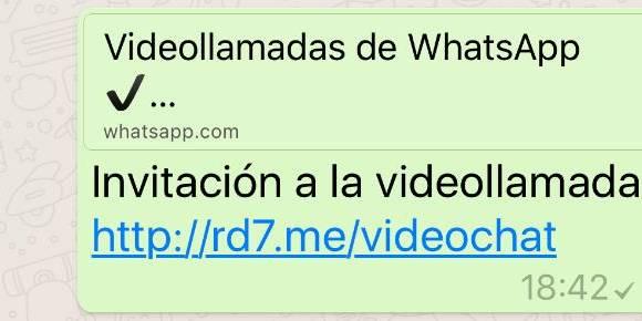 """Imagen del enlace con la """"falsa"""" actualización a videollamadas (Foto Prensa Libre: elcolombiano.com)."""