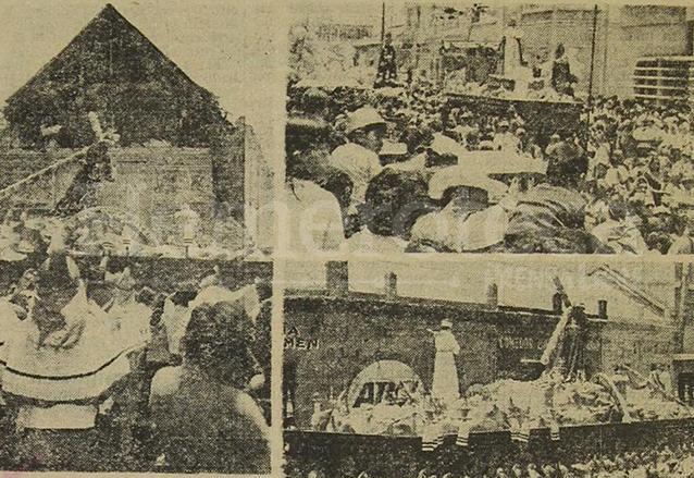 Jueves Santo de 1976. Pasa frente al destruido Templo de San José. (Foto: Hemeroteca PL)