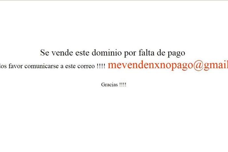 La página web del PP está bloqueada por falta de pago, según Google. (Foto Prensa Libre)