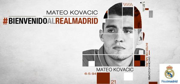 Así da la bienvenida el Real Madrid a Kovacic en su página web. (Foto Prensa Libre: Twitter Real Madrid.