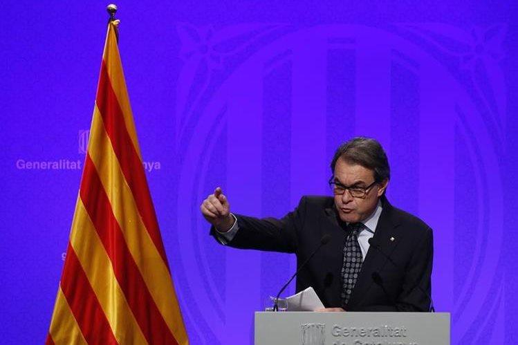 Artur Mas, presidente saliente de la región autónoma española de Cataluña. (AFP)