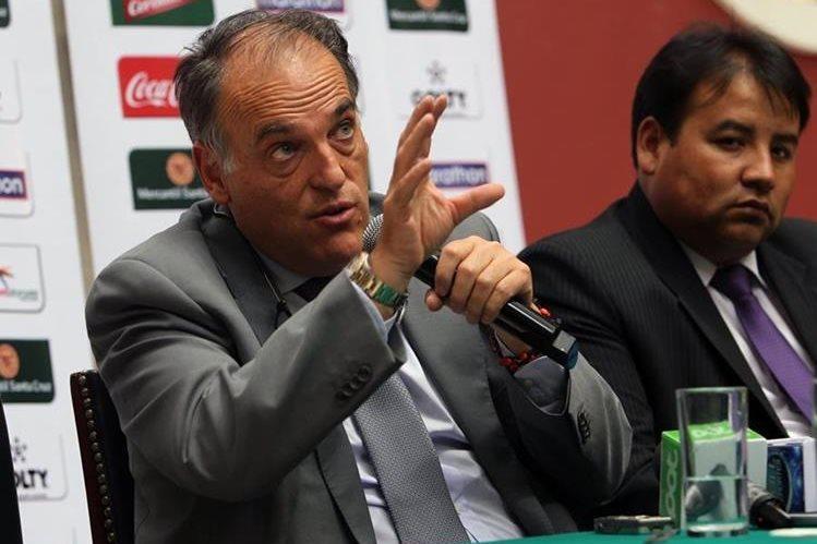 Javier Tebas también ofreció ayuda a la Federación Boliviana de Futbol cooperación para aplicar en Bolivia el mismo plan de control de las finanzas de los clubes que se aplicó en el país europeo. (Foto Prensa Libre: EFE)