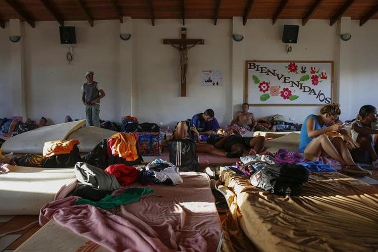 Los cubanos se encuentran en albergue en Costa Rica.