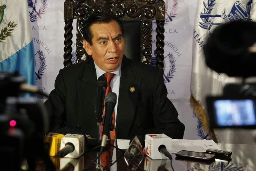 Presidente del OJ en conferencia de prensa: (Foto Prensa Libre: Paulo Raquec)
