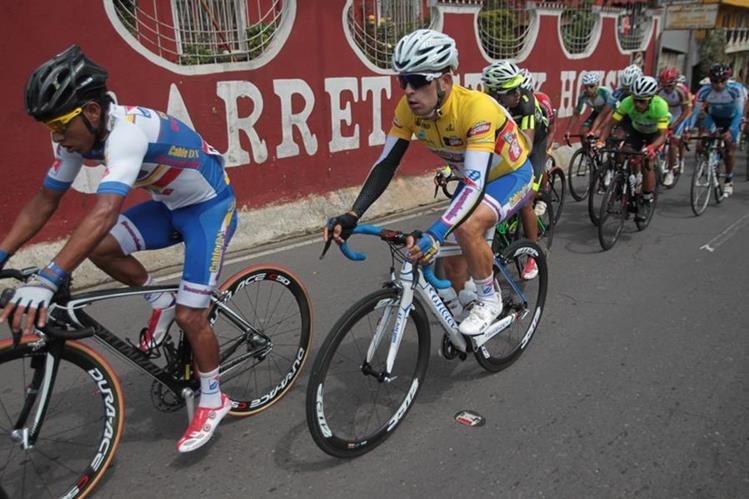 Manuel Rodas sigue como líder de la clasificación general de la Vuelta a Guatemala. (Foto Prensa Libre: Norvin Mendoza)