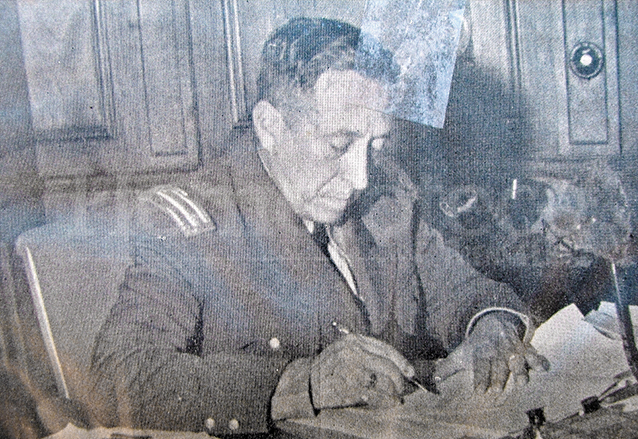 Federico Ponce Vaides el 4 de julio de 1944. (Foto: Hemeroteca PL)