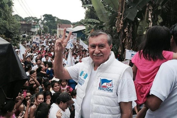 El exdiputado Édgar Ovalle en un evento de campaña electoral de FCN en 2015. (Foto Prensa Libre: Hemeroteca PL)