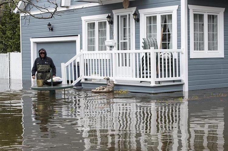 Más de mil casas quedaron inundadas.