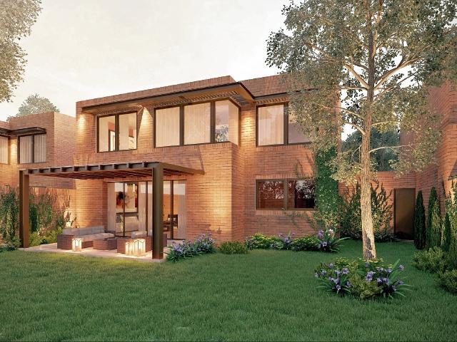 Construcción con diseño elegante y moderno