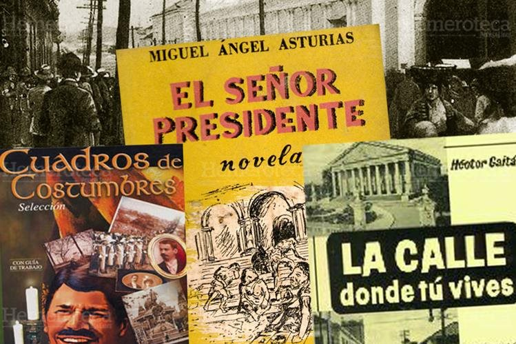 Tres muestras de la literatura guatemalteca. (Foto: Hemeroteca PL)