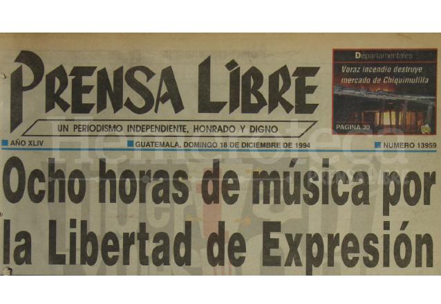 Titular de Prensa Libre del 18/12/1994. (Foto: Hemeroteca PL)