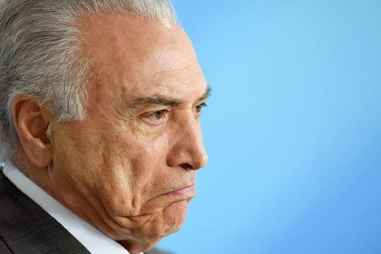 Michel Temer, presidente de Brasil, afronta un nuevo escándalo.(Foto Prensa Libre: AFP).