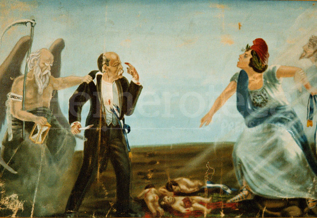 Alegoría que ilustra el rechazo de Guatemala en contra del régimen de Estrada Cabrera. (Foto: Hemeroteca PL)