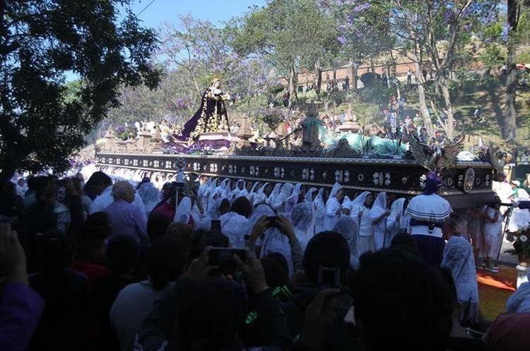 Esta es la única procesión que saldrá en la zona 1 este día.