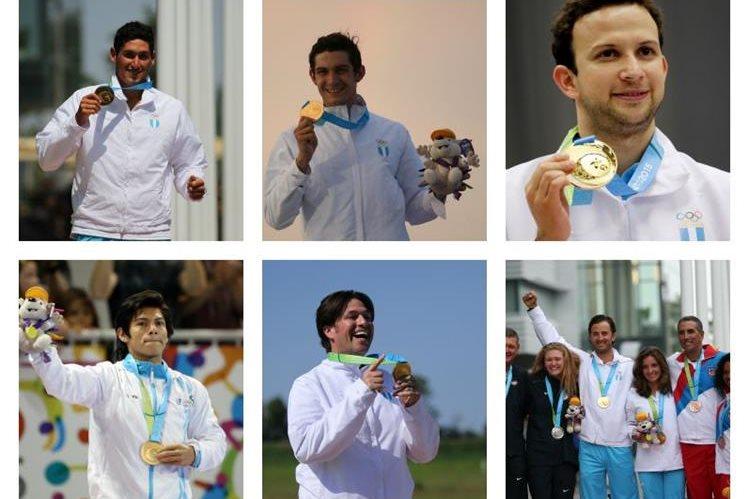 Siete atletas fueron los que brindaron las seis medallas de oro en los Juegos Panamericanos. (Foto Prensa Libre: Hemeroteca PL)