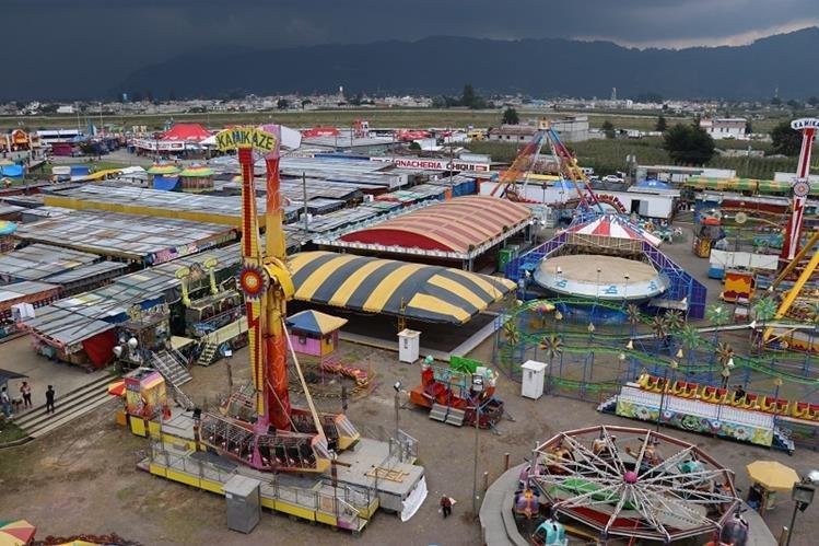 Campo de la Feria Centroamericana de la Independencia, para el que vecinos piden mejoras, a fin de atraer a más visitantes. (Foto Prensa Libre: María José Longo)