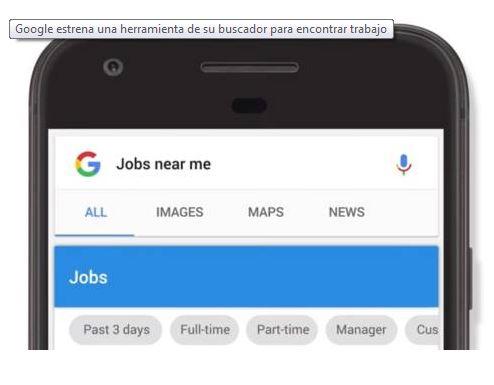"""Los usuarios que introduzcan en Google """"trabajos cerca de mí"""" o fórmulas similares recibirán resultados que les permitan ver ofertas de trabajo en internet. (Foto Prensa Libre: elcolombiano.com)"""