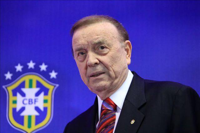 El presidente de la Confederación Brasileña de Futbol (CBF), José María Marín, está a la espera de juicio por actos de corrupción (Foto Prensa Libre: tomada de internet)