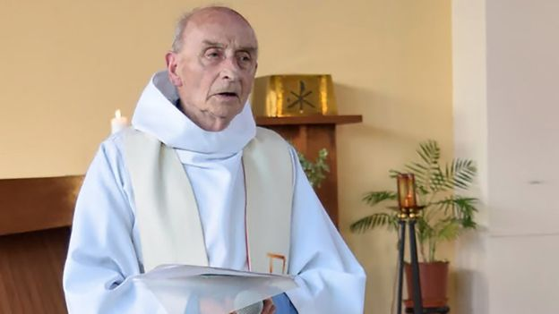 El cura Jacques Hamel era una persona conocida en St-Etienne-du-Rouvray. AFP