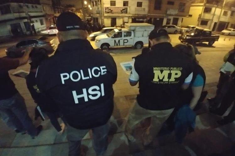 Agencias estadounidenses de investigación se sumaron a las autoridades guatemaltecas para efectuar los operativo. (Foto Prensa Libre: MP)