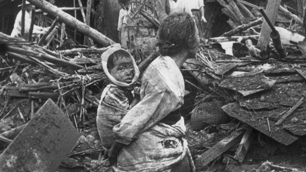 Los bombardeos sobre Pyongyang redujeron la ciudad a escombros y causaron miles de víctimas mortales. KEYSTONE/GETTY