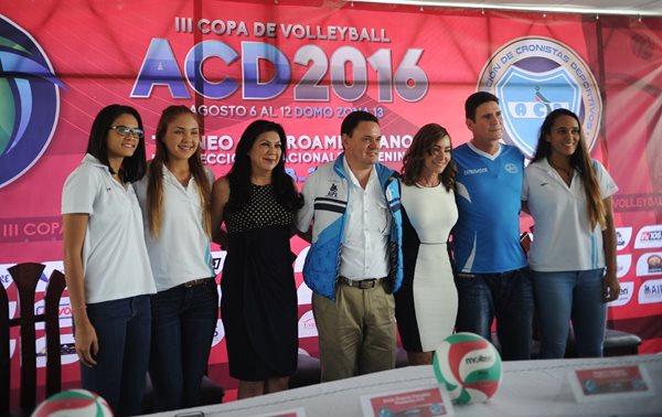 La Asociación de Cronistas Deportivos (ACD) anunció la tercera edición de la Copa Centroamericana femenina Sub 23 de voleibol (Foto Prensa Libre: Edwin Fajardo)