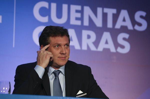 Alejandro Domínguez, presidente de la Confederación Sudamericana de Fútbol (CONMEBOL). (Foto Prensa Libre: EFE)