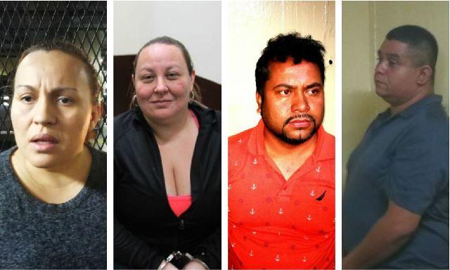 Algunos de los capturados sindicados en la muerte de Byron Lima, otros 12 reos y una modelo argentina. (Foto Prensa Libre: Hemeroteca PL)