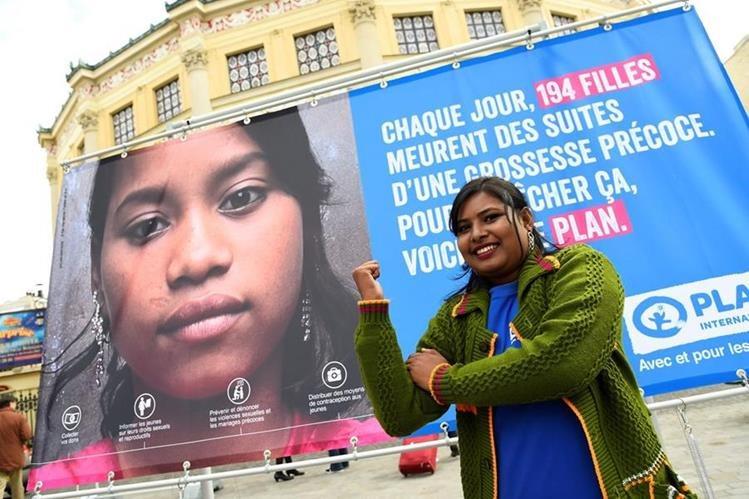 Radha Rani escapó del matrimonio forzado a los 14 años y ahora lucha por los derechos de las niñas en el mundo. (Foto Prensa Libre: AFP).