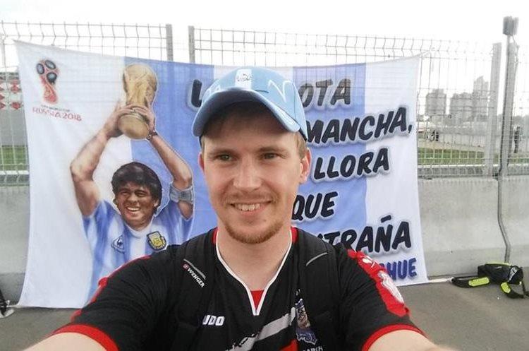 Andrey Byakin también luce una gorra de Guatemala. (Foto Prensa Libre: Cortesía Andrey Byakin)