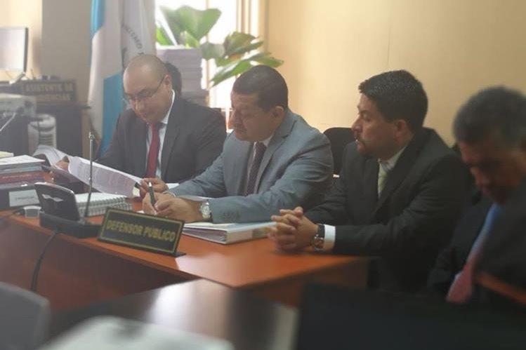 Antonio Coro, exalcalde de Santa Catarina Pinula, durante la audiencia por el caso El Cambray 2. (Foto Prensa Libre: Esbin García)
