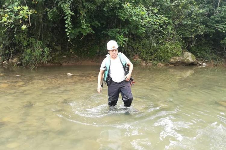 La búsqueda del niño Edison Matías en el río Petacalapa, Malacatán, San Marcos, se extendió por cuatro días. (Foto Prensa Libre: Cortesía Óscar Lima)