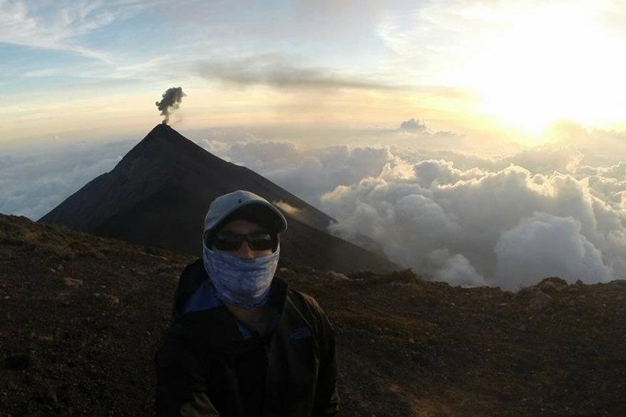 Las expediciones a los colosos de Guatemala, han sido algunas aventuras del joven. (Foto Prensa Libre: Cortesía)