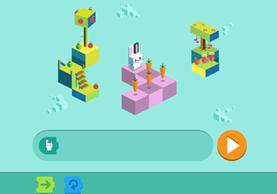 """Coding for Carrots"" es el doodle que busca enseñar lenguajes de programación (Foto Prensa Libre: Google)."