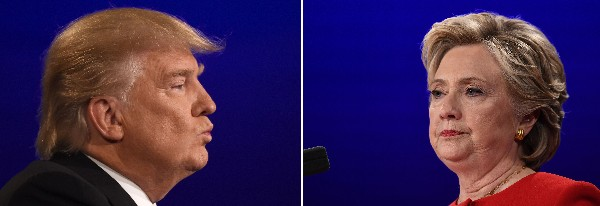 Hillary Clinton y su rival Donald Trump buscan la Presidencia de EE.UU.(AFP).