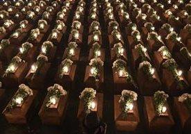 Los restos de indígenas masacradas fueron inhumados en San Juan Comalapa.