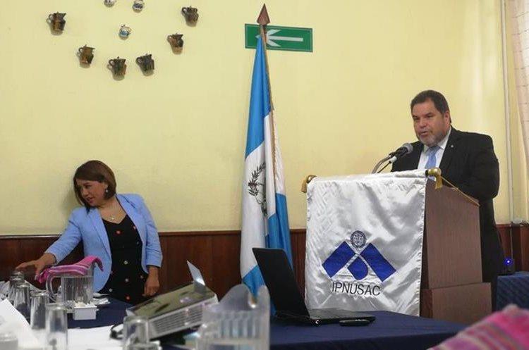 Carlos Alvarado, rector de la Universidad de San Carlos de Guatemala. (Foto Prensa Libre: Oscar Felipe Q.)