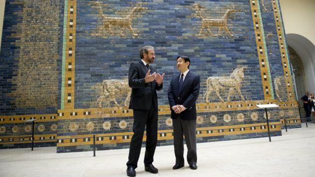 La Puerta de Ishtar está en exhibición en Berlín. GETTY IMAGES