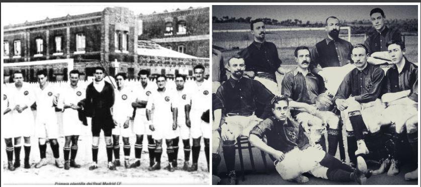 Estas fueron los primeros equipos del Real Madrid y Barcelona respectivamente. (Foto Prensa Libre: Agencias)