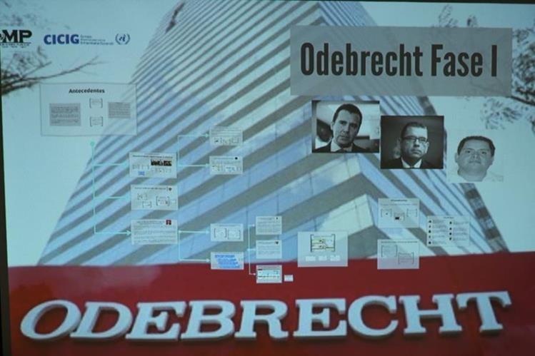 Con esta diapositiva comenzó la conferencia de prensa. (Foto Prensa Libre: Esbin García).