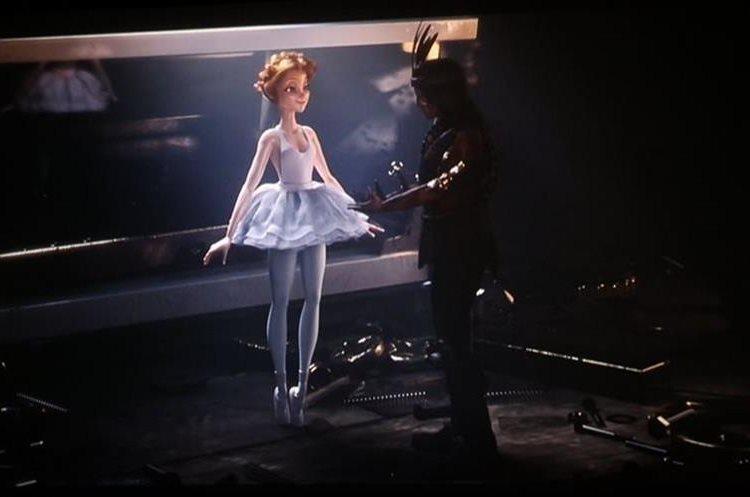 Los protagonistas del video son una bailarina y un muñeco de madera. (Foto Prensa Libre: Luz marina producciones).