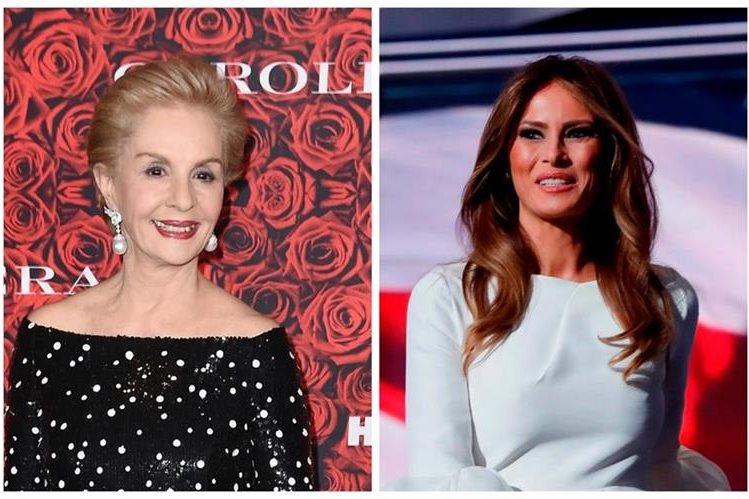 Carolina Herrera, quien fue reconocida por sus 35 años de trayectoria en el mundo de la moda, no descarta diseñar para la futura primera dama de Estados Unidos. (Foto Prensa Libre: AFP)