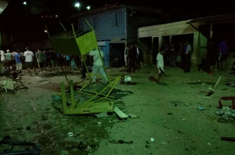 Durante la noche se registraron incidentes en Santa María Cahabón. (Foto Prensa Libre: Eduardo Sam)